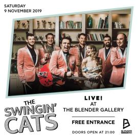 The Swingin' Cats LIVE at The Blender Gallery!